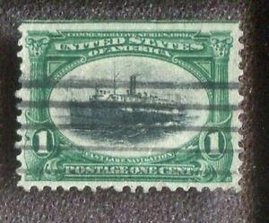 Scott No. 294 - 1c Green & Black