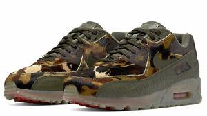 Nike Air Max 90 'Croc Camo' Cargo Khaki CU0675-300 Size 11 Used