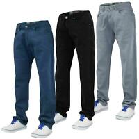 Mens Regular Fit Jeans Straight Leg Stretch Denim Cotton Pants Casual Trousers