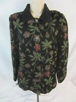 Susan Graver Style Floral Textured Button Front Coat Jacket - Women's S - H247