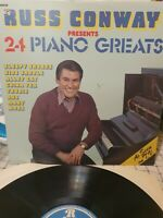 RUSS CONWAY ~ PRESENTS 24 PIANO GREATS ~ 1977 UK LP RECORD ~ RONCO RTL 2022