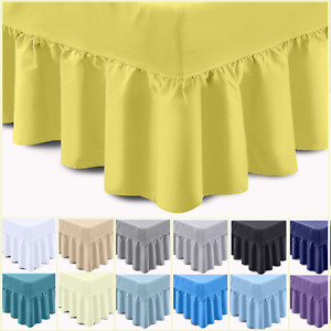 5* EXTRA DEEP FRILLED VALANCE SHEET 400 THREAD COUNT 100% EGYPTIAN COTTON