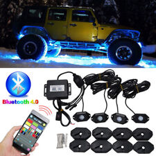LED RGB Off-road Rock DRL Lights Wireless Bluetooth Music Accent Car Truck SUV