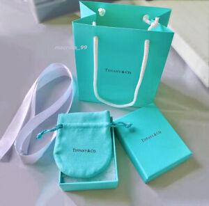 Tiffany & Co. Empty Blue Gift Box, Ribbon, Pouch, Shopping Bag 4pc Set Packaging