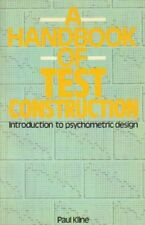 Handbook of Test Construction: Introduction to Psychometric Design, Kline, Paul,