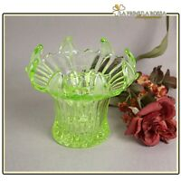 Vaso in vetro vintage art deco Portafiori in vetro liberty porta fiori verde
