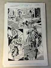 CAPTAIN AMERICA ANNUAL original art BARON ZEMO, TECHNO KNOCKS OUT V, MARK BAGLEY