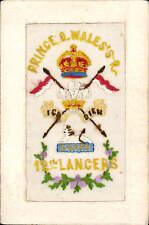 WW1 Regimental Silk. Prince of Wales's Royal 12th Lancers by J J, Paris for G&P.