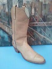 "Frye 6258 Tan Leather Cowboy Western 2.5"" Heel Pull On Boot 9.5 AA"