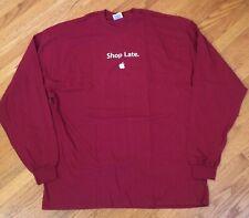 NEW Apple Store Black Friday 2002 SHOP LATE STUFF EARLY Employee Shirt XXL 2XL