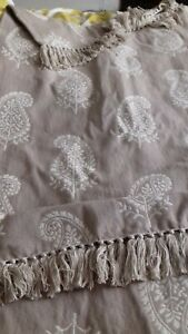 Two x Marks and Spencer Taupe/cream Throw nwt