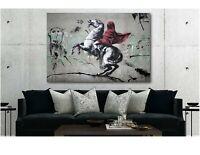 Banksy Napoleon Crossing The Alps - CANVAS WALL ART Print - Various Sizes