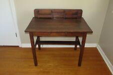 Antique Vintage Arts & Crafts Mission Style Solid Wood Desk #1086HR