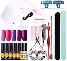 Orgánica Esmalte de Uñas Kit 5 un. Kit de herramientas de manicura GEL UV LED Lámpara de arte pedicura Set