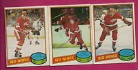 1980-81 OPC RED WINGS MIKE FOLIGNO + LYLE + OGRODNICK EX-MT  ROOKIE (INV# 9553)