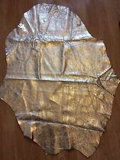 Gorgeous Metallic Distressed Look Gold Sheeps Hide/ Skin, 90 x 66cm