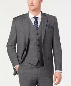 Ralph Lauren mens UltraFlex Stretch Sharkskin Grey Suit Jacket size 42R rt $450