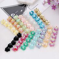 5PCS Beads 3D Sequins Flower Patch Applique DIY Craft Sewing for Bag Shoe Cloth