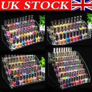 Nail Polish Acrylic Clear Makeup Display Stand Rack Holder Organizer 2-7 Tiers