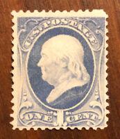 US Stamp # 206 Mint OG H $70 1881
