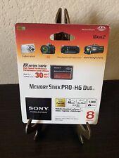 New SONY 8GB Memory Stick Pro HG Duo Mark 2 MS-HX8A
