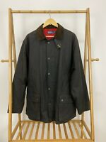 Polo Ralph Lauren Men's Red Lined Waxed Hunting Barn Field Chore Jacket Size L