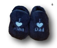 Baby Toddler Boy Girl Winter Warm Anti Slip Slippers Shoes Socks Size 0-6 6-12m 6-12 Months Navy