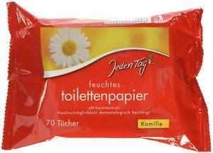 Jeden Tag Feuchtes Toilettenpapier Kamille Feuchttücher - 1 Pack x 70 Blatt