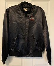Vintage Las Vegas Hilton Super Slot Shiny Satin Windbreaker Jacket Size XL