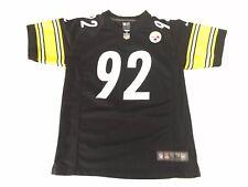 Nike On Field Pittsburgh Steelers #92 Harrison Jersey Youth Large 14-16 Black