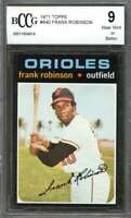 Frank Robinson Card 1971 Topps #640 Baltimore Orioles BGS BCCG 9