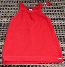 FRED BARE GIRLS RED KNIT SUMMER DRESS SZ 2