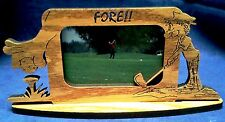 New Wooden Golf Frame with Wood Tabletop Stand and Laser Details on Sides