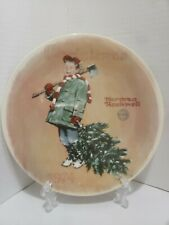 Norman Rockwell Christmas 1974 Scotty Gets His Tree Limited Edition Plate