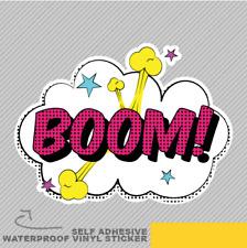 Boom Bomb explosión Funky Turbo Pop Vinilo Pegatina Calcomanía ventana de coche furgoneta bicicleta 2090