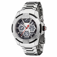 DETOMASO TOUGH GUY Mens Automatic Watch Stainless Steel Silver Multifunction New