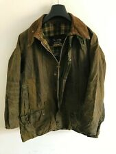 Mens Barbour Beaufort wax jacket Dark Green coat 42 in size Large/Extra Large #9