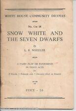 Snow White Wheeler White House Community Dramas