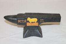Golden Fleece  Motor Oil Gas Vintage Style Cast Iron Anvil Advertising