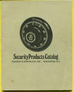 Sargent & Greenleaf Security Products Catalog Locks/Keys
