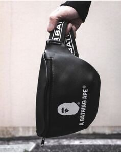 2019 A Bathing Ape BAPE Synthetic Leather Waist Bag Shoulder Chest Crossbody