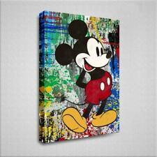 Wandbild | Street Art | Mickey Mouse | Leinwand | Deko | XXL | Kunstdruck | Pop