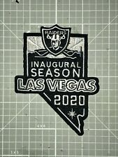 OAKLAND RAIDERS JERSEY PATCH 100% EMBROIDERED LV 2020 INAUGURAL SEASON NEW! 🔥