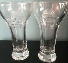 """Miller Chill Shot Glass Beer Glass 4 1/2""""  Mini Embossed Phoenix Logo Taster"""