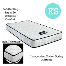 NEW Medium Firm Mattress King Single Size High Density Foam Pocket Spring 21cm