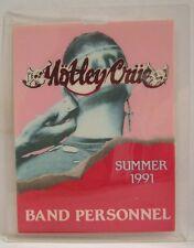 MOTLEY CRUE - ORIGINAL CONCERT TOUR LAMINATE BACKSTAGE PASS