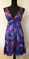 New Look Dress Size 10 Multicoloured Pattern <SW5312z