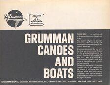 1967 Grumman 12 13 14 15 17 18 19 20 Canoe Power Boat Brochure na0327