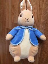 "Big Peter Rabbit Rattle Beatrix Potter 13"" Plush 2002 Stuffed Animal Bunny Baby"