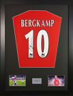 Dennis Bergkamp signed arsenal shirt display + coa